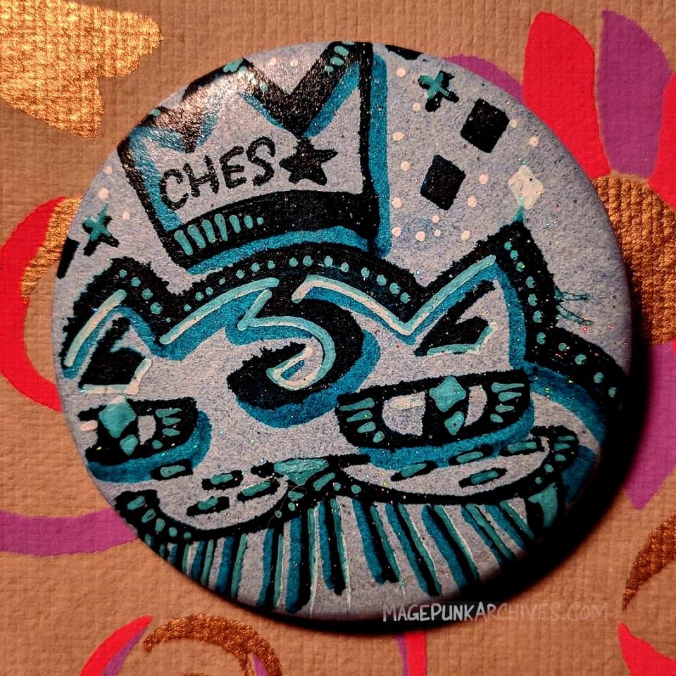 Blue Blue Ches FieStar Button