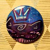 Dark Violet on Dark Blue Ches Star Button