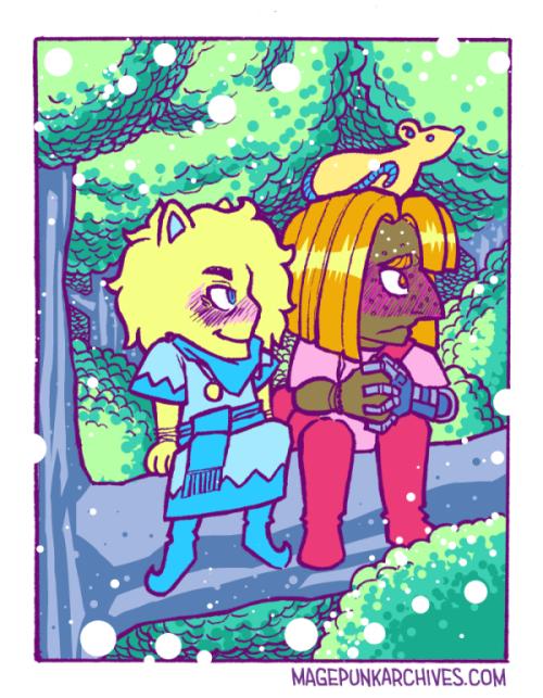 Artemis and Garnet