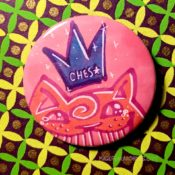 Pink Bishoujo Blue Crown Ches Star Button Day