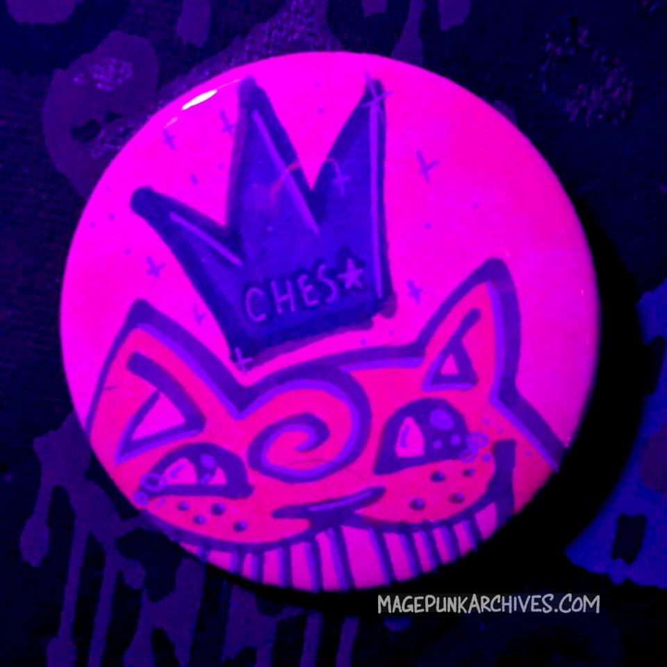 Pink Bishoujo Blue Crown Ches Star Button Night