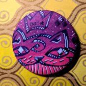 Purple Hombre Ches FieStar Button