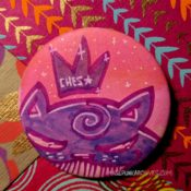Ready to Fight Purple Pink Ches Star Button