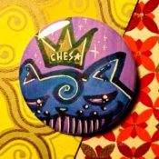 Stern Blue Lavender Ches Star Button